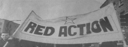 Red action banner