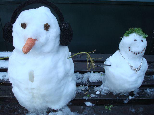 Two Mini Snowmen