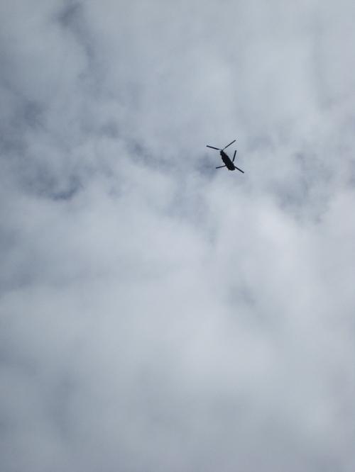 A Chinook Flies
