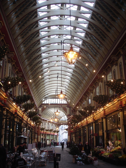 Leadenhall Market At Christmas