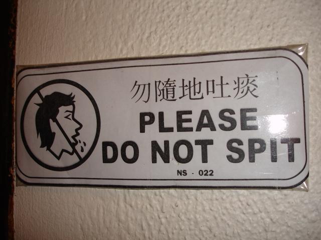 Spitting?